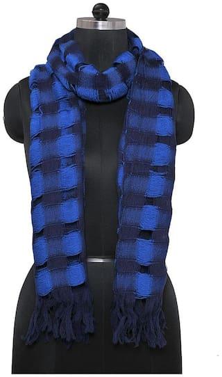 TieKart Women Wool Stoles & Scarves - Blue