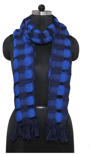 TieKart Women Wool Stoles & Scarves - Blue