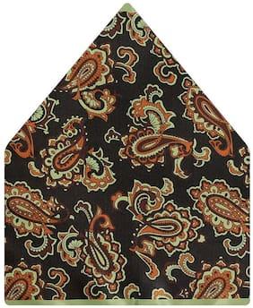 TieKart Polyester Pocket Square - Brown
