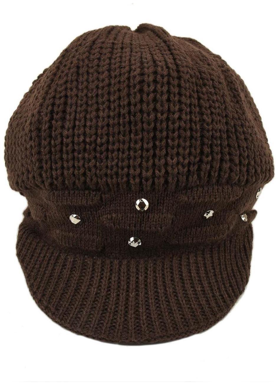 Tiekart Women Brown Woollen Cap by Tiekart