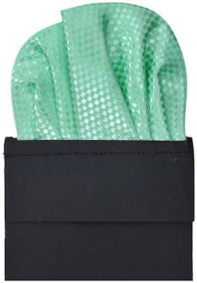 TieKart Polyester Pocket Square - Green