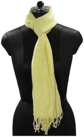 TieKart Women Linen Stoles & Scarves - Green