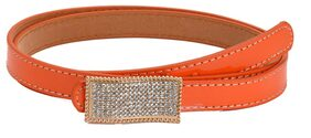 Tiekart-Women Orange Stone Overlaid  Belt