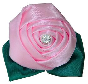 Tiekart-Men Pink Plain Solids  Lapel Pin