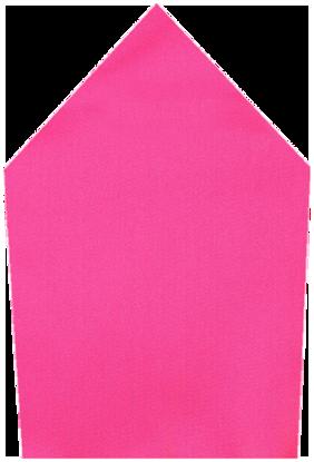 Tiekart-Men Pink Plain Solids  Pocket Square