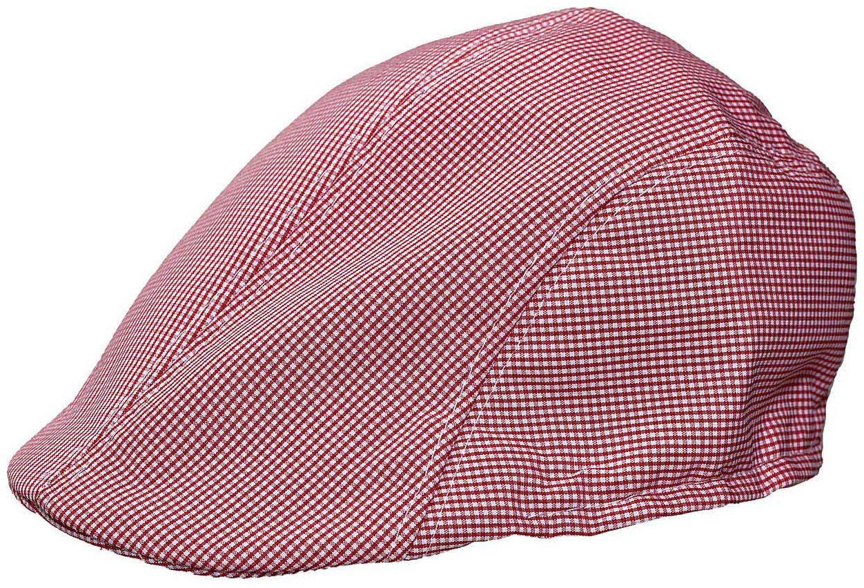 Tiekart Red Checkered Classic Cotton Golf Cap for Men