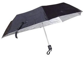 Tiru  Black Classic 3 Fold Automatic Open UV and Rain Protective Umbrella