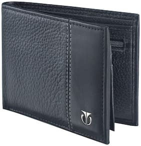 Titan Men Casual Black Genuine Leather Wallet