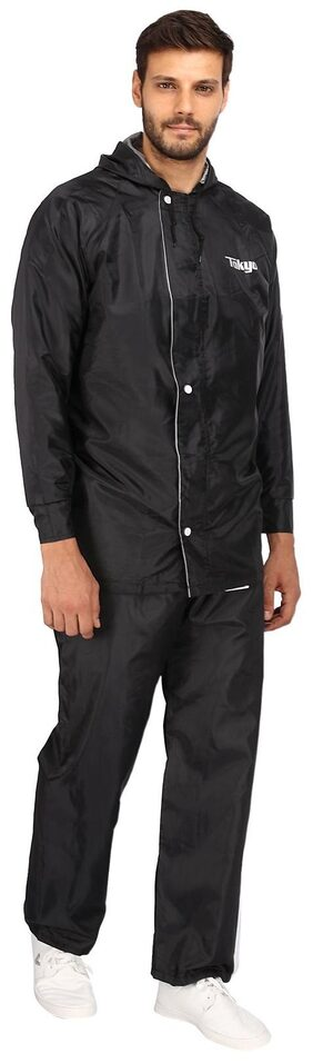 TOKYO Black High Quality Double Layer Raincoat