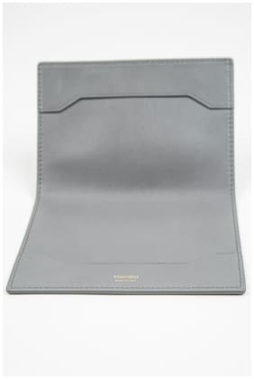 Tom Ford Gray Grey Smooth NWT 100% Calf Leather Bifold Wallet Passport Holder