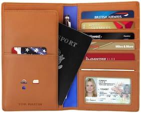 TOM MARTIN Men Leather Card holder - Brown , Pack of 1