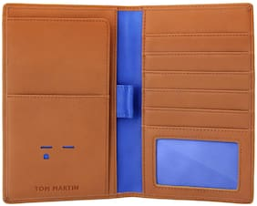 TOM MARTIN Men Leather Card holder - Brown , Pack of 1