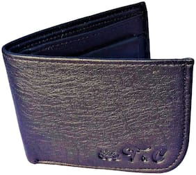 FRIENDS & COMPANY Men Black Leather Bi-Fold Wallet ( Pack of 1 )