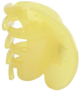 Trendeela.Com Women Hair claw ( Yellow , Set of 1 )