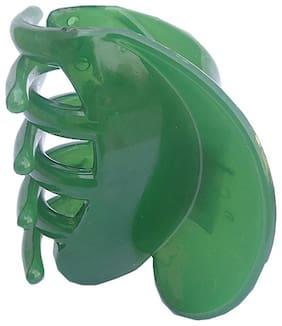 Trendeela.Com Women Hair claw ( Green , Set of 1 )