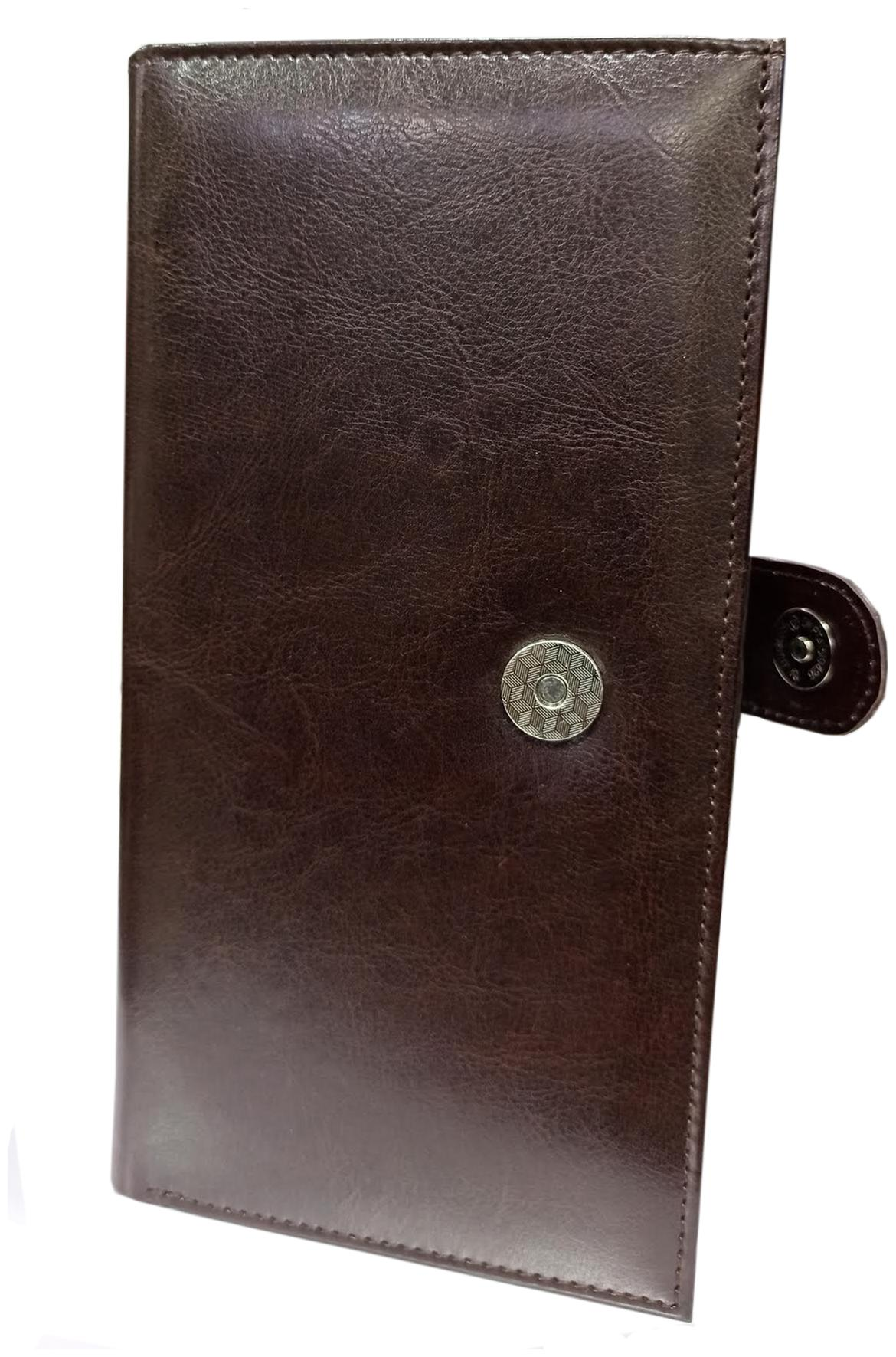 Trendy Spark Men Brown Artificial Leather Document Holder  8 Card Slots  by Sparsh Enterpeises