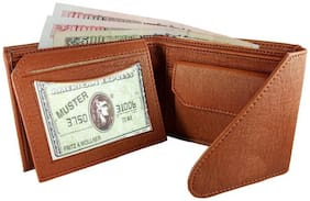 Tri-Fold Formal Plus Casual  Brown Wallet for men, Hand Made, Long Lasting Quality, (Model-MW/TF/T-0004)