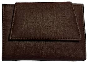 Benicia Men Brown Pu Tri Fold Wallet ( Pack of 1 )