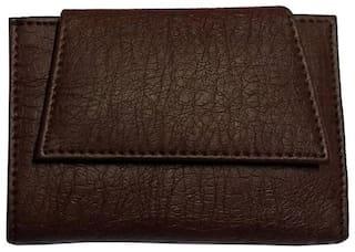 Benicia Men Brown Pu Tri Fold Wallet ( Pack of 1 )