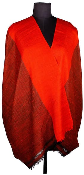 Tribes India Men Silk Shawl - Red