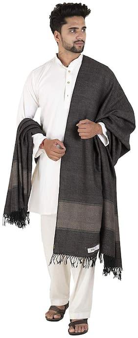 Tribes India Men Wool Shawl - Black