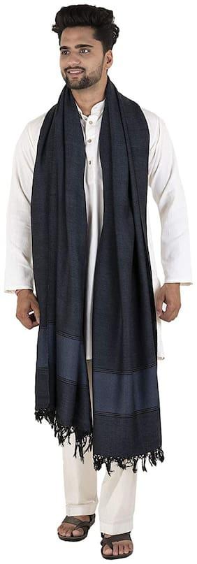 Tribes India Men Wool Shawl - Blue