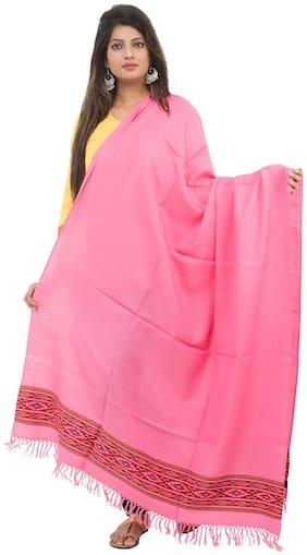 Tribes India Pink Woollen Shawl