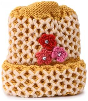 Women Wool Beanie ( Yellow )