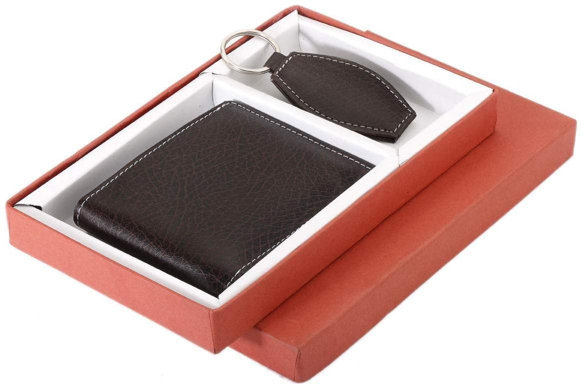 BORSE Men Brown Canvas Bi Fold Wallet by Borse