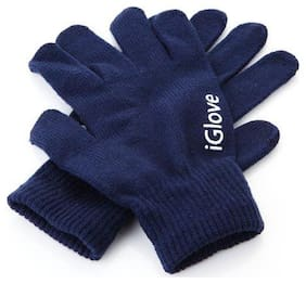 TZS Unisex Wool Glove - Blue