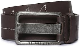 U.S. Polo Assn. Men Brown Leather Belt (Size: 36 , Pack of 1 )