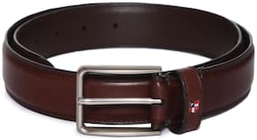 U.S. Polo Assn. Men Brown Leather Belt (Size: 38 , Pack of 1 )