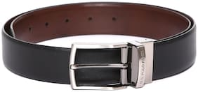 U.S. Polo Assn. Men Black Leather Belt (Size: 34 , Pack of 1 )
