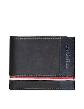 U.S. Polo Assn. Black Bi-Fold Wallet For Men