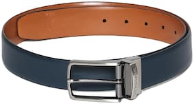 U.S. Polo Assn. Men Blue Leather Belt (Size: 32 , Pack of 1 )