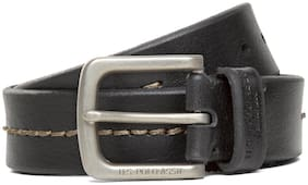 U.S. Polo Assn. Contrast Stitch Leather Belt for men
