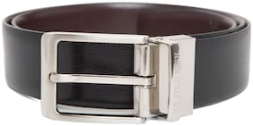 U.S. Polo Assn. Men Brown Leather Belt (Size: 34 , Pack of 1 )