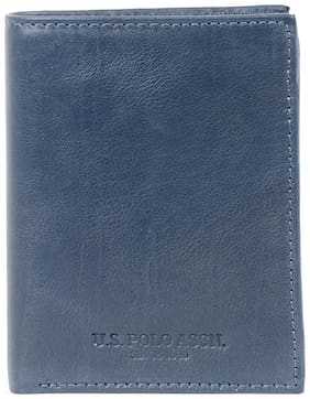 U.S. Polo Assn. Navy Blue Leather Wallet