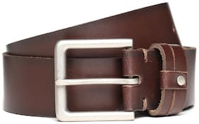 U.S. Polo Assn. Men Red Leather Belt (Size: 38 , Pack of 1 )