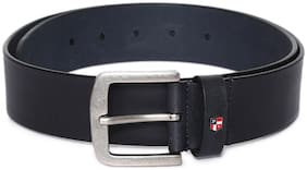 U.S. Polo Assn. Men Navy blue Leather Belt (Size: 34 , Pack of 1 )