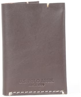 U.S. Polo Assn. Brown Leather Wallet