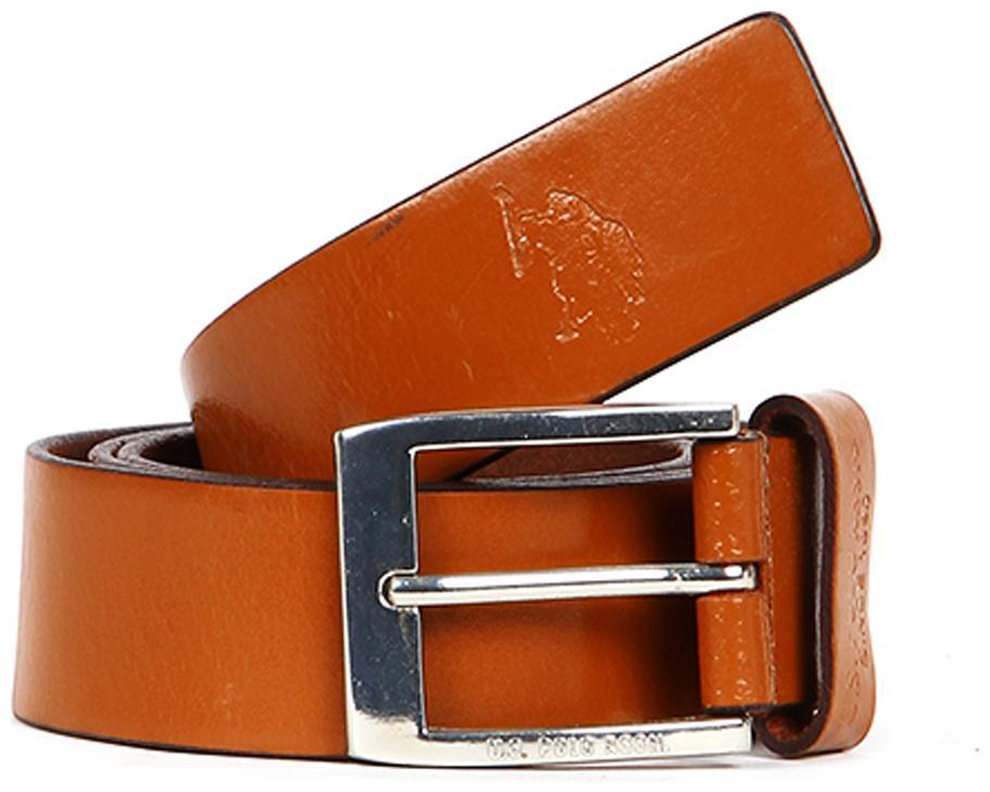 U.S. Polo Assn. Men Tan Leather Belts