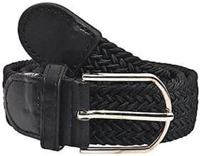 unisex causal brown canvas belt