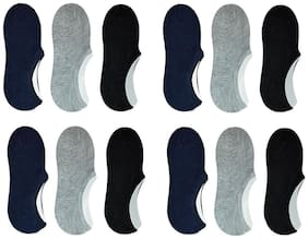 Unisex Cotton Ankle Socks (9 Pairs)(Zach-Plain-Loafer-Po9_ Multicolor_Free Size)