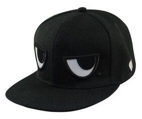 Unisex Men's Women's  Adjustable Baseball Eyes Snapback Hip-hop Black