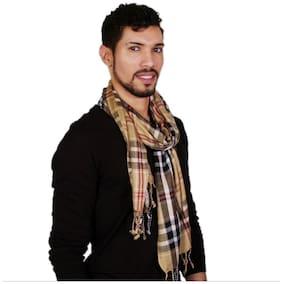 VR Designers Men Cotton Shawl - Yellow
