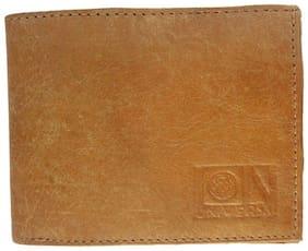 Universal U1087WBR Genuine Leather Wallet/Purse For Men - Tan
