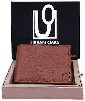 URBAN OARS Men Tan PU Solid Bi-Fold Wallet