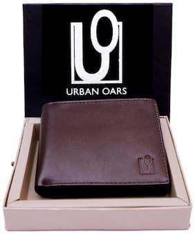 URBAN OARS Men Brown Leather Bi-Fold Wallet