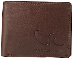 Vagan-kate brown leather wallet for men